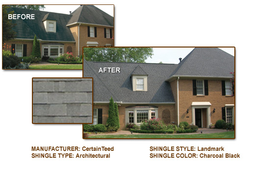 Roofing Examples Before and After